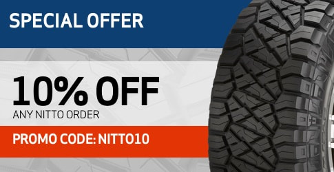 10% off Nitto All-Terrain Tires for December 2018