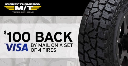 $100 back on Mickey Thompson All-Terrain Tires for September through November 2018