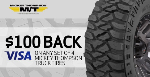 $100 back on Mickey Thompson All-Terrain Tires for February-March 2019