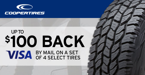 $100 back on Cooper tires for July 2018