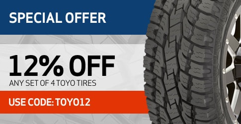 12% off Toyo All-Terrain Tires - February 2019