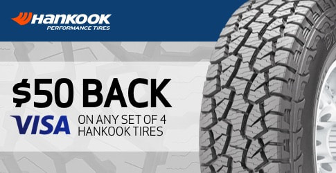 $50 back on the Hankook Dyapro AT-M all-terrain tire for October 2018