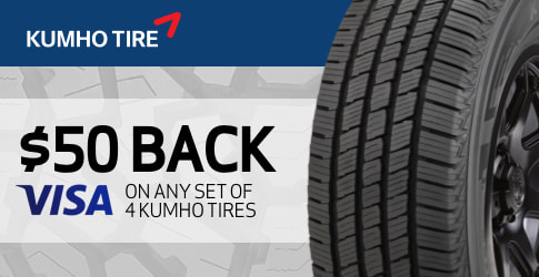$50 Kumho all-terrain tire rebate for April 2019