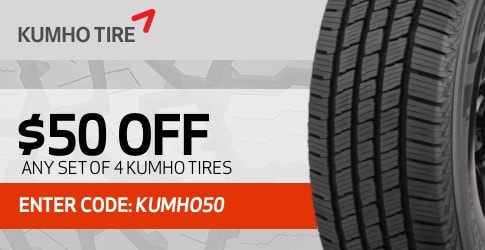 $50 off Kumho All-Terrain Tires - February 2019