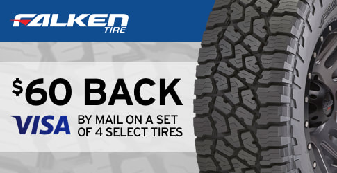 $60 back on Falken All-Terrain Tires for August 2018