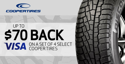$70 back on Cooper Discoverer A/TW all-terrain tires for November-December 2018