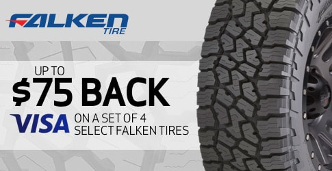 $75 back on Falken Wildpeak A/T3W All-Terrain Tires for January 2019