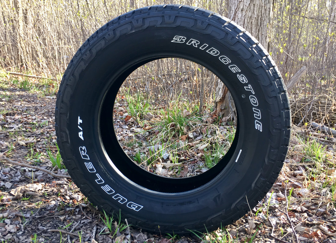 Bridgestone Dueler A/T REVO 3 side profile, entire tire