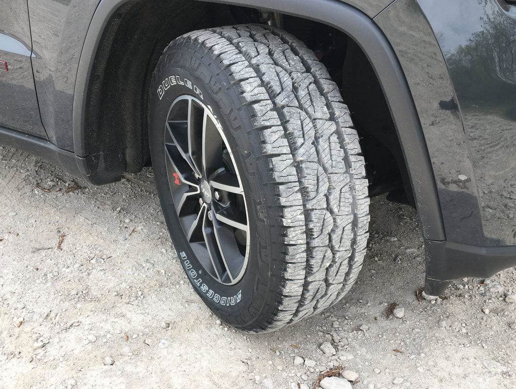 Bridgestone Dueler A/T REVO 3 tread in gravel