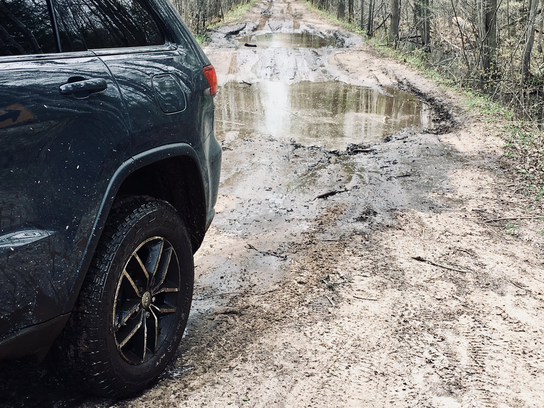 Bridgestone Dueler A/T REVO 3 through mud pits, water