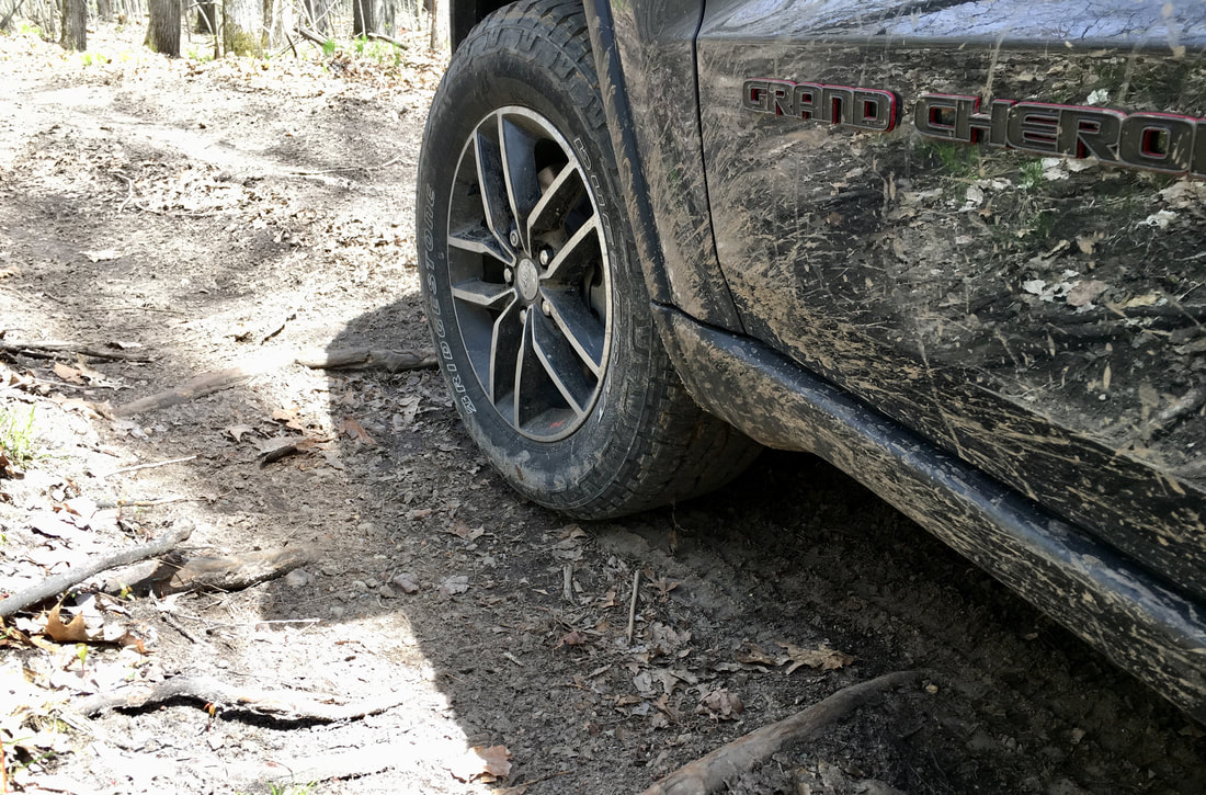 Bridgestone Dueler A/T REVO 3 on off-road trail